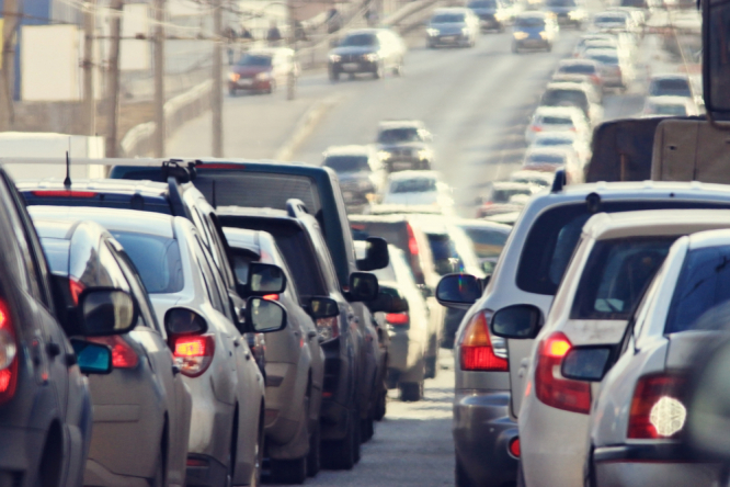 Cars on motorway. Noise pollution in France costs €156billion per year, study finds