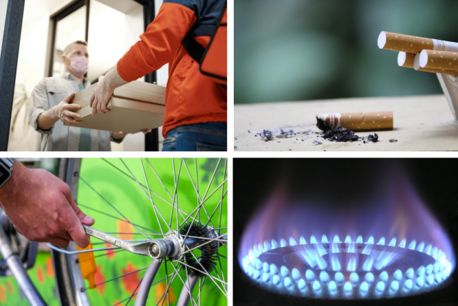 Clockwise - Food delivery, cigarettes, bike repair, gas ring. What's new for residents in France in March 2021?