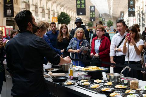 French Michelin Star Chefs Launch Train Station Event