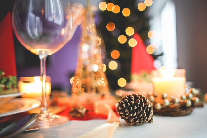 A table set for Christmas dinner. December lockdown needed in France 'to save Christmas'