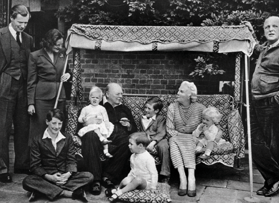 Churchill and his wife Clementine with their family. Photo credit: Fremantle / Alamy Stock Photo.
