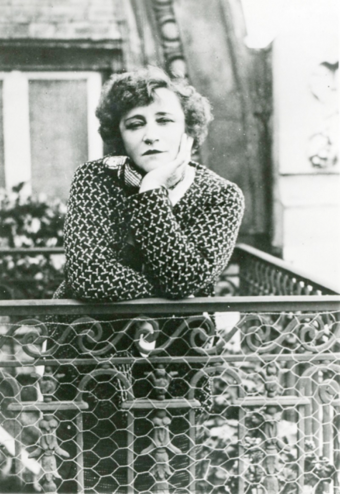 Colette at her window