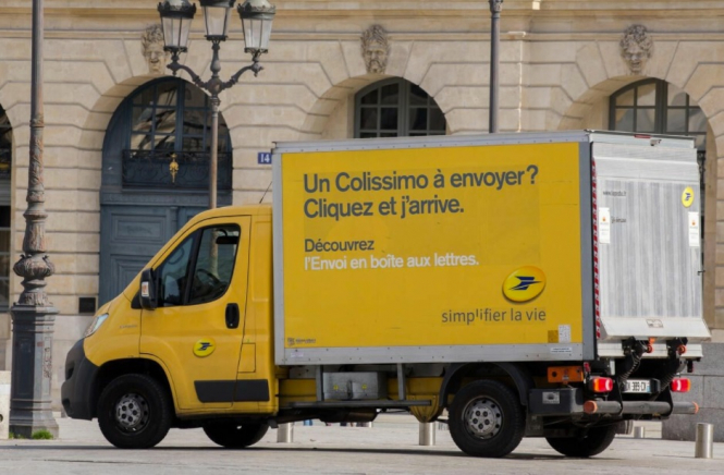 A yellow Colissimo van. French post admits errors and aims to improve parcel service