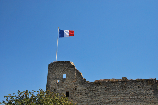 Brown concrete building with French flag above. Article: COVID-19 frontline workers in France are to get residency applications fast-tracked. Photo by Boudewijn Huysmans / Unsplash