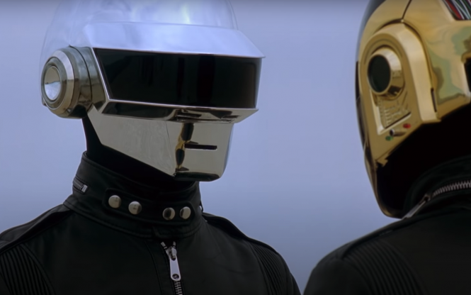 A screenshot of the new Epilogue video with Daft Punk's two members. Daft Punk, French dance music duo, split after 28 years