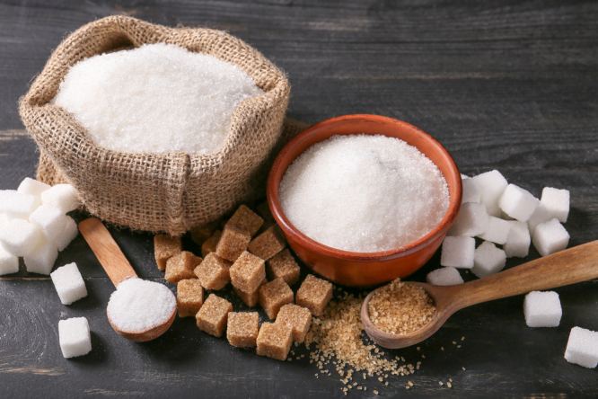 Different types of sugar. French supermarkets recall 1,000 tonnes of sugar due to pesticide risk