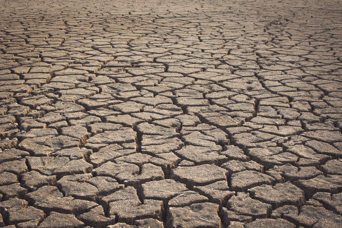 Cracked, dry earth. France imposes water restrictions in 55 departments as alert levels rise in dry July 2020