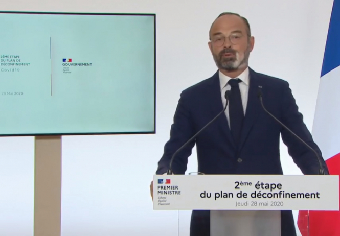 Prime Minister Edouard Philippe announces phase two of deconfinement in France