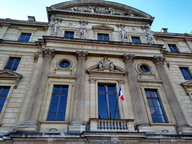 Exterior of the Cour de cassation, Paris. Wife sanctioned by French court for refusing sex, EU to rule