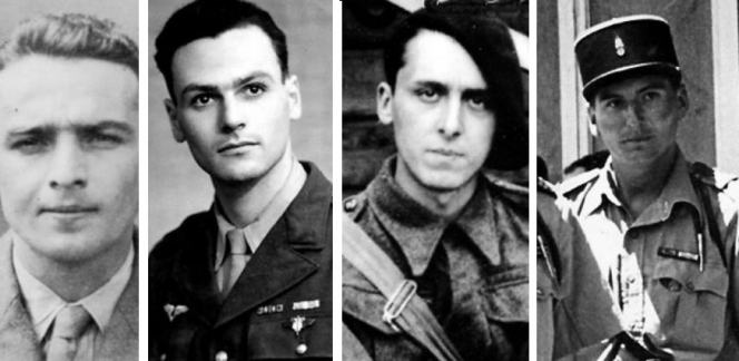 Four French Resistance fighters. They are to be awarded honorary MBEs in the coming months in France