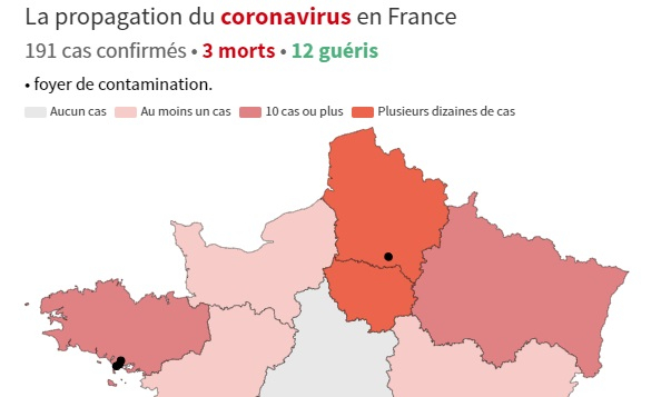 Covid 19 Map Of France Shows Spread As Cases Spike