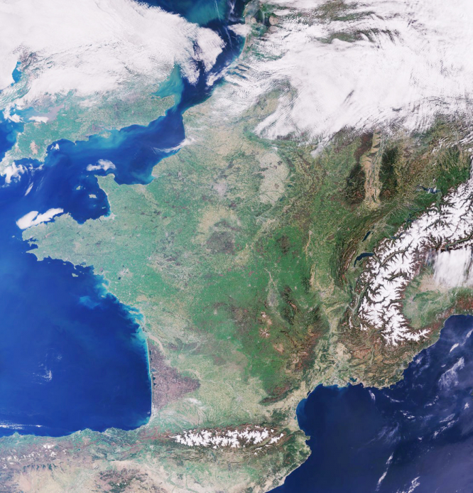 France from space 2018
