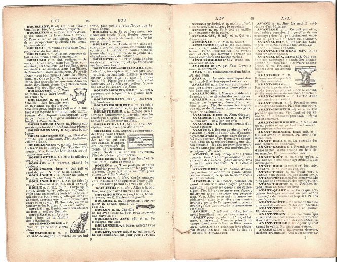"""French dictionary page1"" by lizzie_anne is licensed under CC BY-NC 2.0"