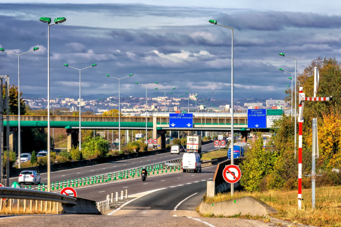 A motorway in France. Private unmarked speed camera cars to triple in France in 2021