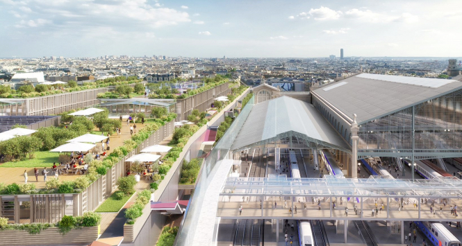 Gare du Nord exterior over tracks
