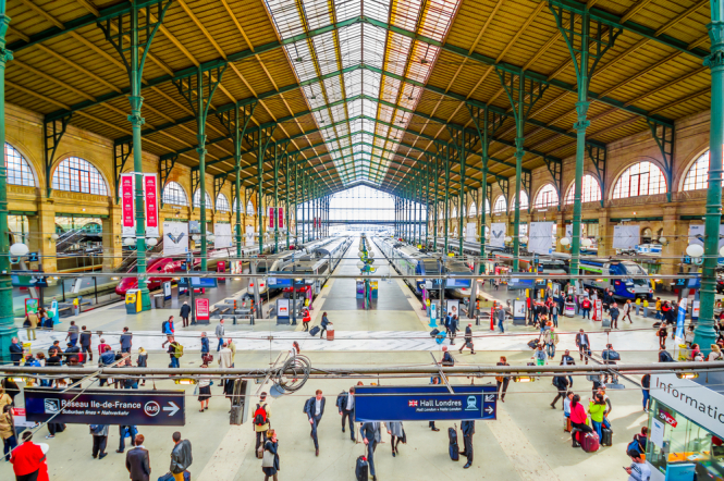 The Gare du Nord in Paris
