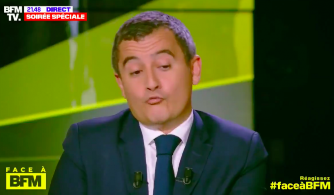 Gérald Darmanin on BFMTV. Interior minister 'shocked' by global foods in French stores