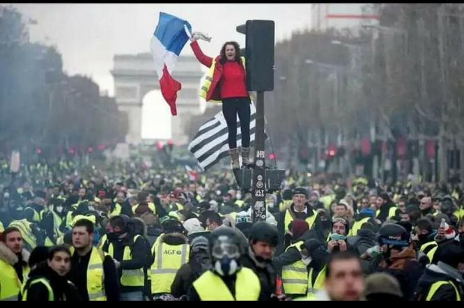 Gilets Jaunes protesting in Paris