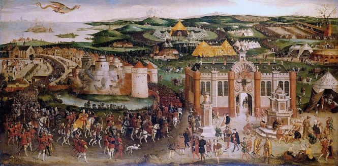 The Camp du Drap d'Or in a painting. Today marks 500 years of Franco-English 'most expensive festival' Camp du Drap d'Or