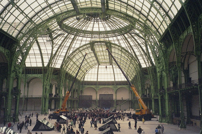 The Grand Palais interior in Paris. France to allow gatherings of more than 5,000 from August 15