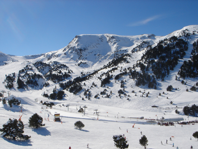 A view of the Grand Valira ski resort in Andorrra. Andorra reopens ski stations - but not yet to France