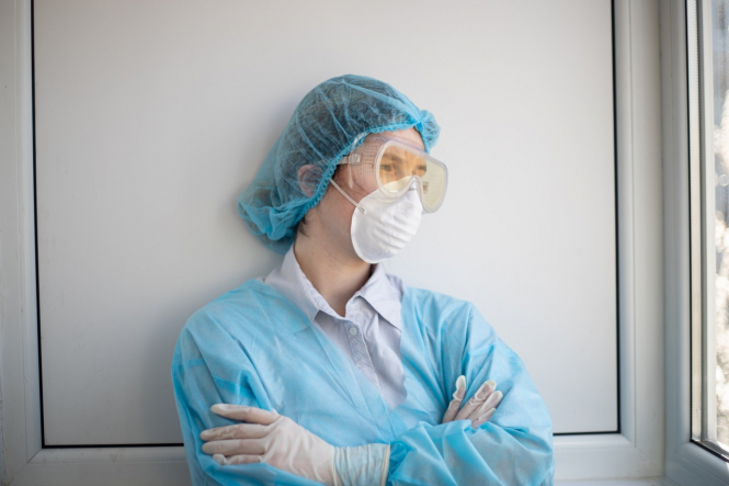 A healthcare worker. France calls health staff to get Covid jab as 'ethical duty'