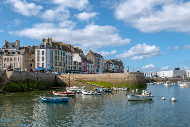 A landscape of Brittany in summer. House prices soar in medium-sized cities in France due to Covid