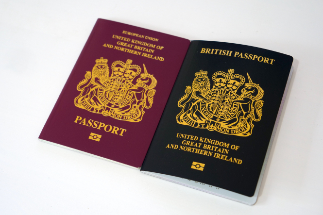 Old and new UK passports next to each other. Article: How will UK passports be affected post-Brexit? Photo by Ethan Wilkinson / Unsplash