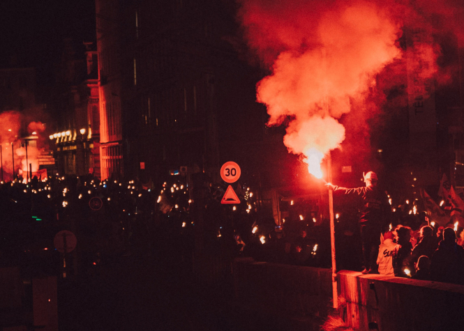 A protest in Grenoble, France. Article: In her October Connexion column, Nabila Ramdani looks at hate, and why it sells so well in today's world. Florian Olivo / Unsplash