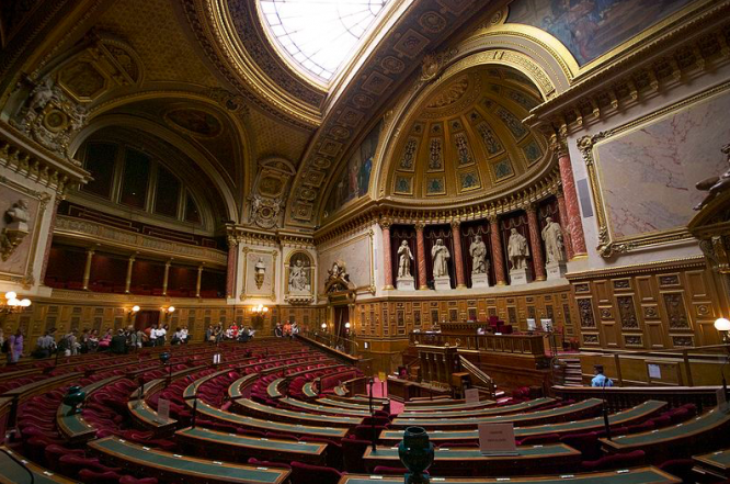The interior of the French senate. French Senate elections: What do the results mean?