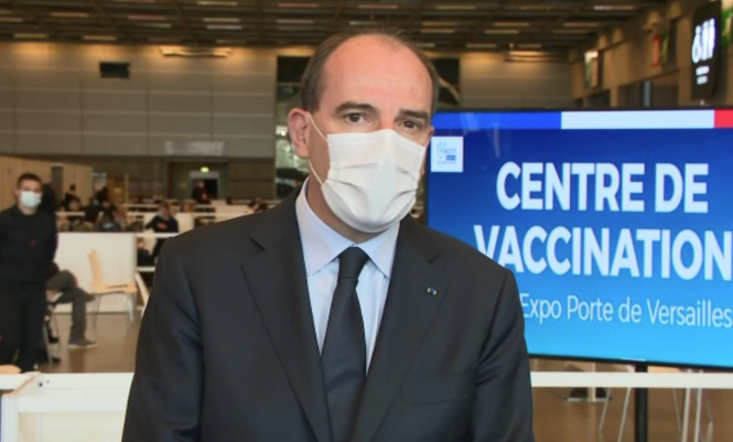 Prime Minister Jean Castex speaking to BFMTV during a vaccinodrome visit on May 15. France hits target of 20 million first Covid vaccinations by mid-May with 30 million set for mid-June