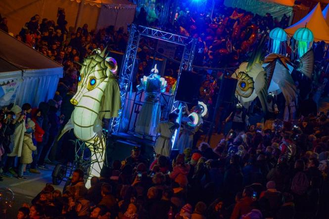 Night show at the kite festival of Berck-sur-Mer