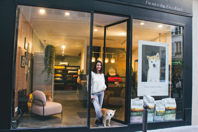 Pet-friendly start-up Klep's boutique in Paris, France.