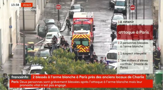 4 wounded in knife attack in Paris, suspect arrested
