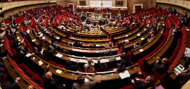 The Assemblée Nationale chamber in France. The Assemblée Nationale is to debate whether to extend the state of health emergency further