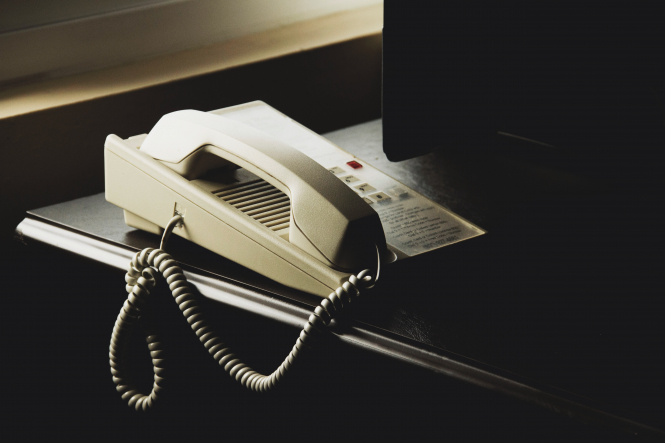 A landline telephone. A new French law against telephone cold calling scams is in place from today.