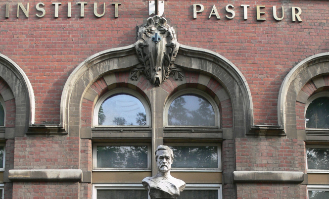 Exterior of the Institut Pasteur de Lille. €5m grant given to Lille 'miracle molecule' Covid trial by luxury goods firm LVMH