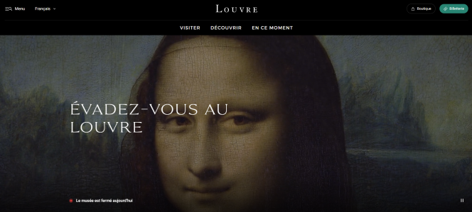 A screenshot of the new Paris Louvre website. Paris Louvre uploads almost entire art collection for free online