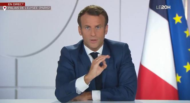 Macron speaks on TF1. Macron: €750 billion EU Covid kickstart plan is 'historic'