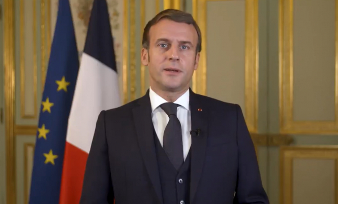 President Macron speaking. President Macron speech to offer 'clarity' on lockdown end