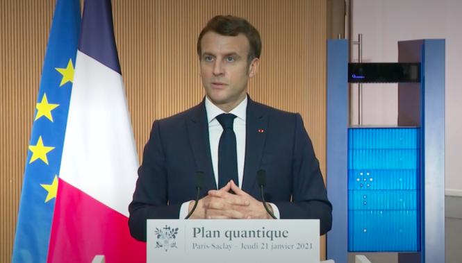 President Macron giving a speech. Covid-19: Macron calls France a 'nation of prosecutors'
