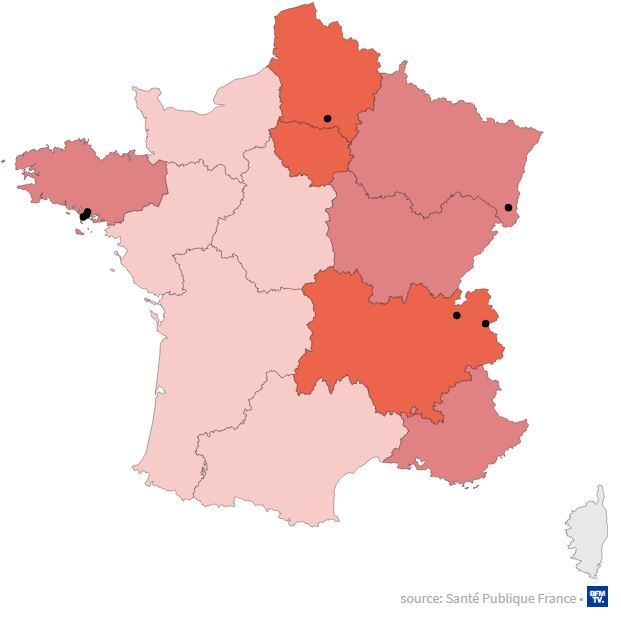 Map Shows Where New Covid 19 Cases Are In France