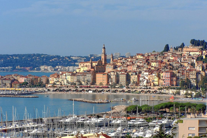 The town of Menton. French Riviera placed on tsunami alert for three hours