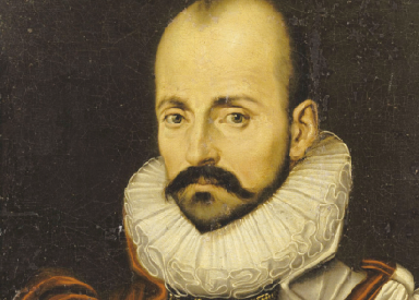 Portrait of Michel de Montaigne, who lived from 1533 to 1592, during the reigns of six kings.