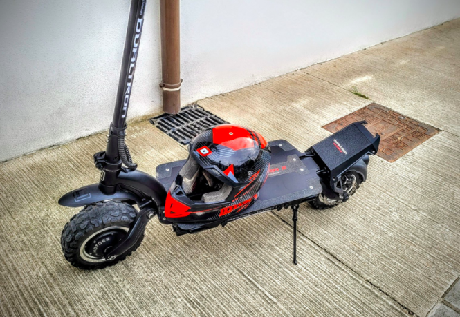 Modified e-scooter confiscated by police. Man fined for travelling at 98kph on e-scooter in south of France