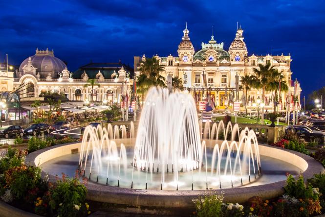 Monaco's famous Casino Square