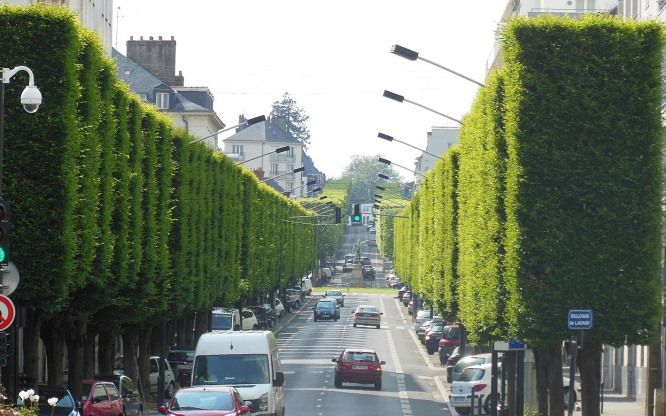 A road in Nantes. Nantes becomes latest city in France to set 30 kph limit in centre roads