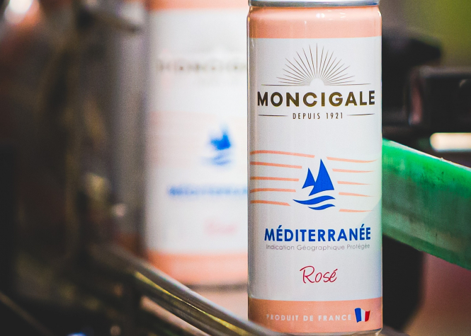 New rosé in cans breaks a big taboo in France.