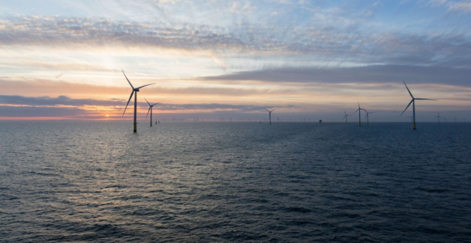 An offshore wind farm in the UK. €1.1b Franco-UK renewable energy project stalled by Brexit