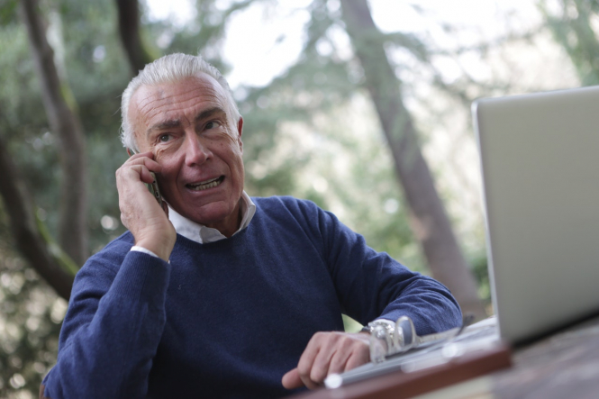 An older man on the phone. Covid-19 France: Vaccine and restriction updates for March 28